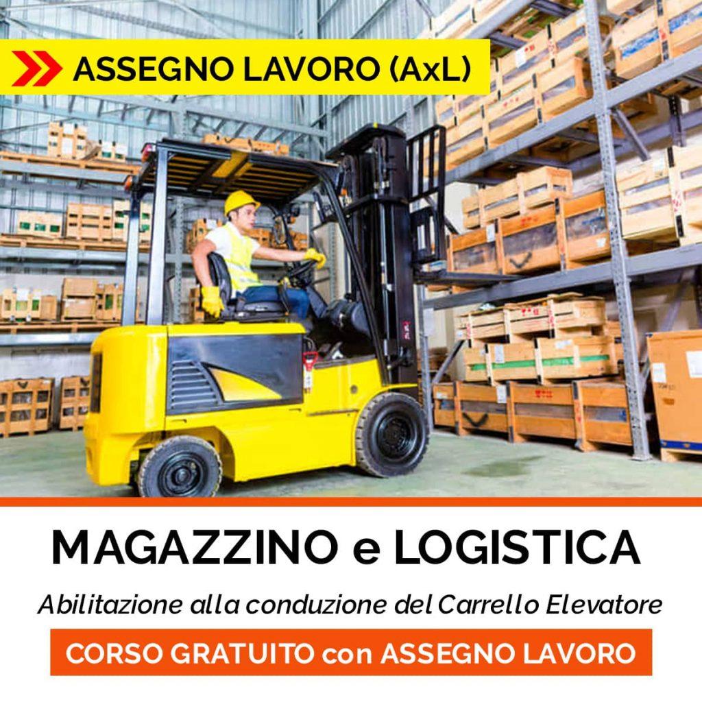 corso magazzino logistica patentino carrello evelatore assegno per il lavoro